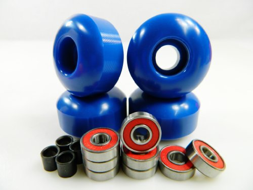 Buy Big Boy 52mm x 31mm Pro Skateboard Wheels (Blue) + ABEC 7 Bearings + Spacers by Big Boy
