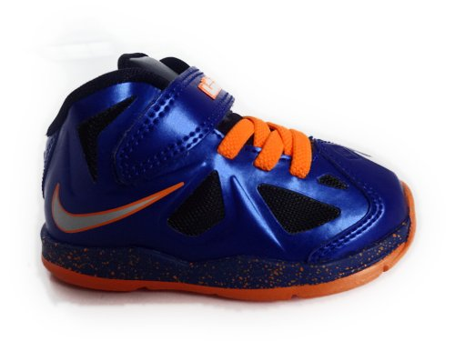 Nike Nike Lebron X Toddlers Size (Hyper Blue / Orange / Black) 543566-401 (7)