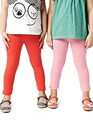 2 Pack Cotton Rich Button Cuff Leggings