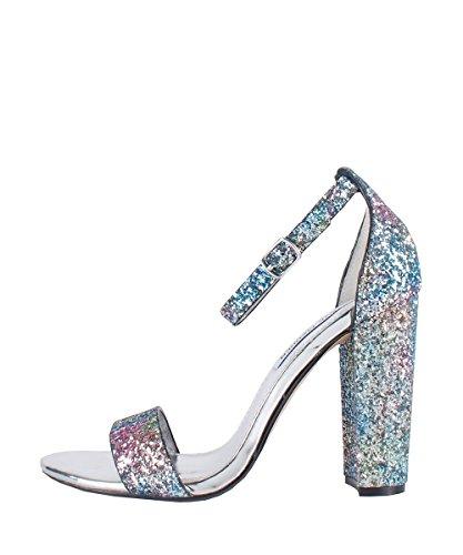Steve Madden Carrson Glitter Multi - Sandali Glitter Multicolore