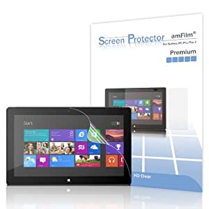 amFilm Premium Screen Protector Film Clear (Invisible) for Microsoft Surface Windows RT and Pro/Pro 2 10.6 inch Tablet (2-Pack)[in Retail Packaging]