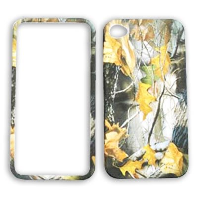 Apple iPhone 4 (AT&T/Verizon) Camo / Camouflage Hunter, w/ Dry Leaves iPhone 4 Hard Case/Cover/Faceplate/Snap On/Housing/Protector
