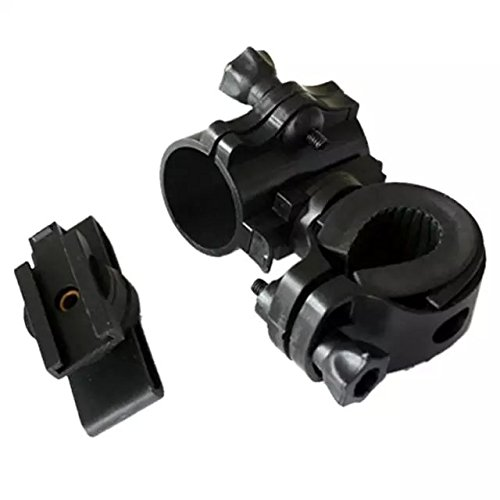 Ezyoutdoor Flashlight holder 360 Degree Cycling Bicycle Bike Mount Holder for LED Flashlight Torch Clip Clamp
