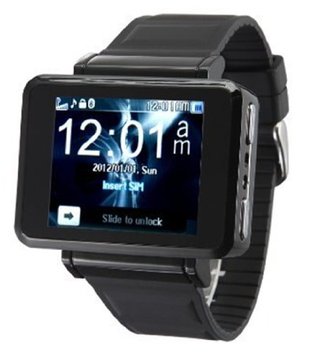 Big Dragonfly Quad Band Ultra-Slim Sport Widescreen Wrist Smart Watch Phone Support Touch Screen, Bluetooth,Flashlight,Fm,Gprs (Black) K1