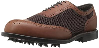 Allen Edmonds Men's Double Eagle Golf Shoe,Brown/Mesh,7.5 D US