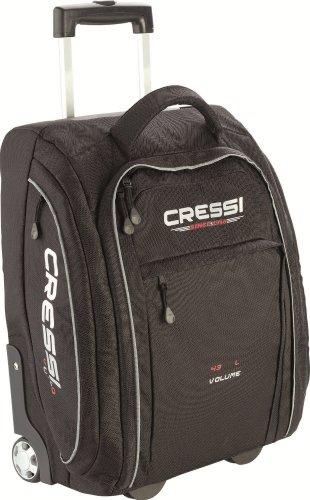 cressi-tasche-und-rucksack-vuelo-bolsa-con-ruedas-para-buceo-color-negro-talla-43-l