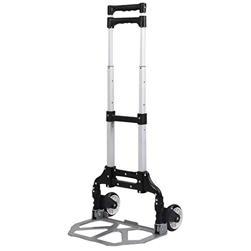 170 Lbs Cart Folding Dolly Push Truck Hand Collapsible Trolley Luggage Aluminium (Hand Push Cart compare prices)