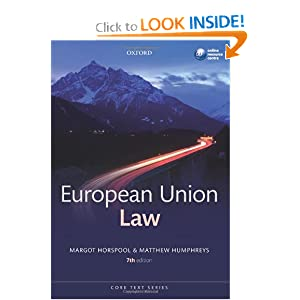 European Union Law (Core Text) Margot Horspool and Matthew Humphreys
