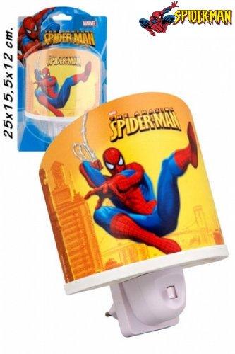 Spiderman Nachtlampe mit Sparbirne.