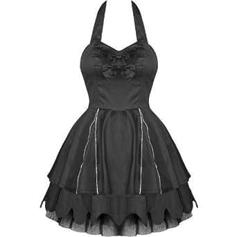 Black Zips Goth Emo Punk Mini Prom Party Clubbing Dress