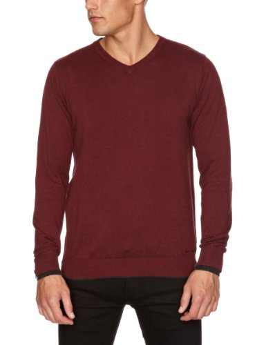 GUIDE LONDON KW.2429 Men's Jumper Burgundy XX-Large