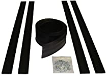Auto Care Products 54016 16-Feet Garage Door Bottom Seal Kit with Track and Mounting Hardware