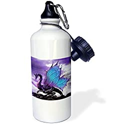 3dRose wb_4145_1 Fairytale Dragon Sports Water Bottle, 21 oz, White