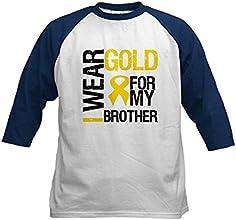 CafePress Kids Baseball Jersey - I Wear Gold For My Brother Kids Baseball Jersey