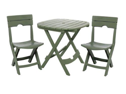 Adams Manufacturing 8590-01-3731 Quik-Fold® Cafe Bistro Set, Sage front-519618