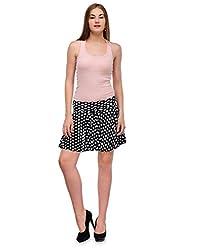 Ambitione Designer Women Black colored Skirt_S