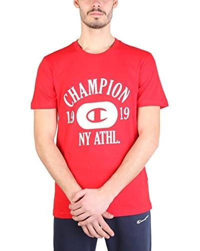 Champion Camiseta Manga Corta Rojo / Blanco
