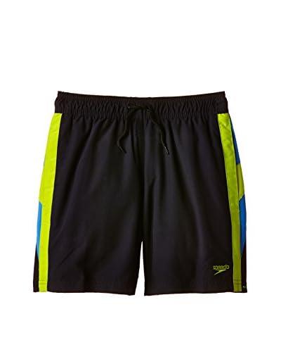 Speedo Shorts da Bagno Logo Yoke Spl 15 Wsht Jm [Blu Navy/Rosso]