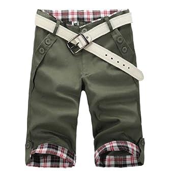 Hee Grand Homme Shorts Casual Chinois L ArmšŠe Vert