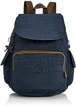 Kipling  City Pack Bp, Sac à dos femme - Bleu - Blue (Dazz Tr Blue C),