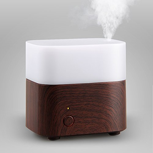 STRONKER 120ml Essential Oil Diffuser Portable Ultrasonic Cool Mist Aroma Humidifier Aromatherapy Diffuser with Room Air Purifier Color LED Lights Changing and Waterless Auto Shut-off (Cool Mist Humidifier Square compare prices)