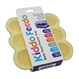 KIDDO FEEDO Baby Food Prep & Storage Container With Silicone Clip-On Lid - 6 Colors Available - BPA Free & FDA...