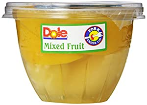 Dole Mixed Fruit in Fruit Juice, 7-Ounce Cups (Pack of 12)