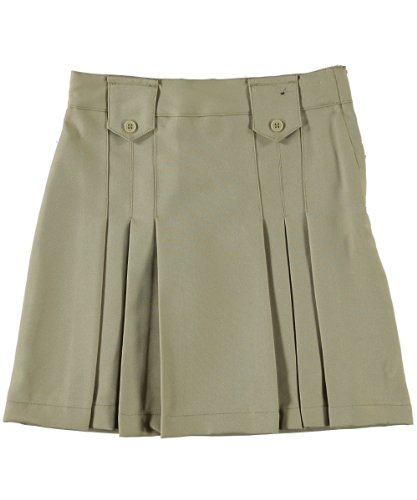 French Toast Girls' Front Pleated Skirt - Khaki, 5