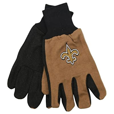 NFL Team Logo Grip Gloves - New Orleans Saints