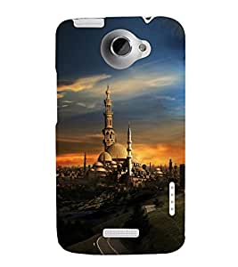 printtech Abstract Building Mosque Back Case Cover for HTC One Max Dual SIM