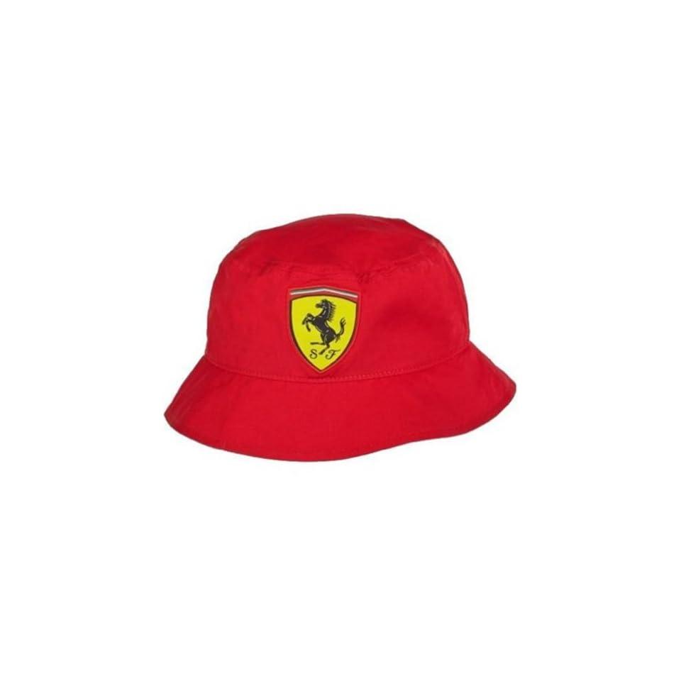 8532e61e86da Ferrari Shield Bucket Hat Red on PopScreen