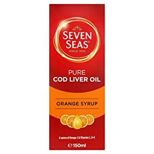 Seven Seas Orange Syrup And Cod Liver Oil With Vitamins D C + E 150ml
