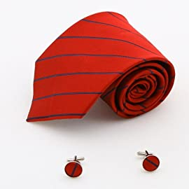 red checkers men neck ties red florals Cheap discount silk cufflinks 1199
