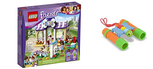 LEGO Friends Heartlake Puppy Daycare 286 Pcs & free Gifts Sunny Patch Happy Giddy Binoculars (Colors may vary) Toys (Lego Friends Adventure Camper compare prices)