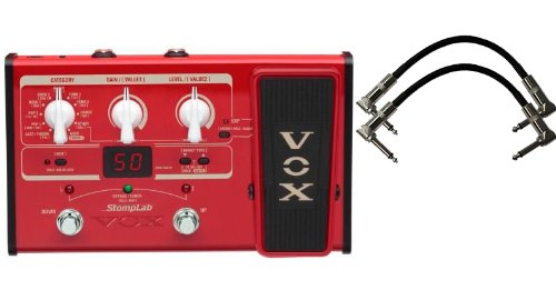"Напольная педаль мультиэффектов Vox Stomplab2B Bass Effects Pedal w/(2) 6"" Patch Cables"