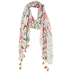 Collection 18 Womens Spring Petals Scarf One Size White/soft mint green