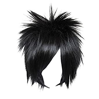 Dream2reality Cosplay_Naruto_Sasuke_bottom curl_35cm_black_wigs