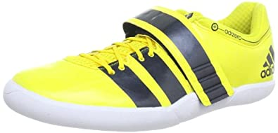 ADIDAS Adizero Discus/Hammer Adult Shoes, Yellow/Black, US7.5