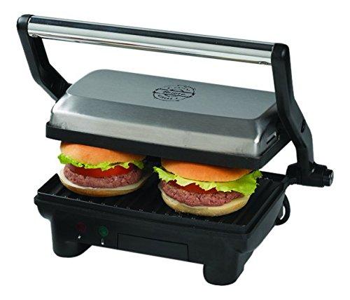 Ariete Slim Toast & Grill Tostiera elettrica, 1000 W, apertura di 180º, per panini
