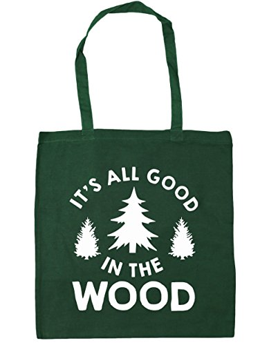 hippowarehouse-its-all-good-in-the-wood-tote-shopping-gym-beach-bag-42cm-x38cm-10-litres