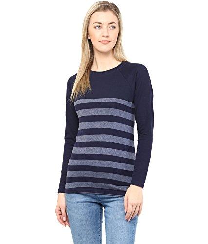 Hypernation-Blue-and-Grey-Stripe-Cotton-T-shirt