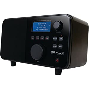 Grace Digital GDI-IR2500 Wi-Fi Internet radio Featuring Pandora, NPR On-Demand, Sirius and i-Heart Radio