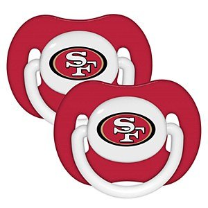 Nfl San Francisco 49Ers 2 Pack Pacifier front-1001556