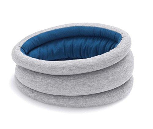 Global king 1Piece Ostrich Pillow Light (Gray+Blue) / Portable Power Napping Pillow Neck pillow (Blue)