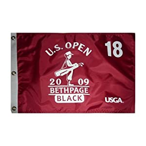 2009 U.S. Open (Bethpage Maroon) Golf Pin Flag - Lucas Glover Champion by PalmBeachAutographs.com
