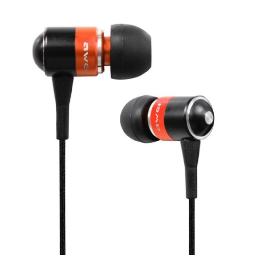 Awei® Es-Q3I Noise Isolation Precise With Precise Bass 3.5Mm Headphones Metal Earphones With Mic For Iphone 4/4S/5/5S Ipod Samsung Htc (Golden)