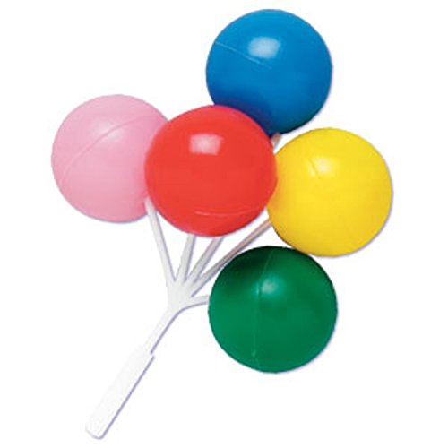 Oasis Supply Balloon Cluster for Cupcake/Cake, 5-Inch, Multicolored, Set of 4 - 1