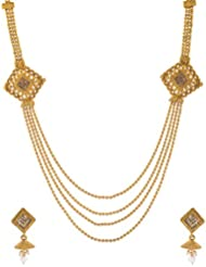 Awww Gold Plated Multi-Strand Necklace Set For Women (SS_DM-NS_459)