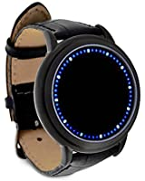Inspired Blue LED Touch Screen Watch Fashion Unisex,Soft PU Leather strap Watch Fashion New,Ideal For Men/Women Sports cool