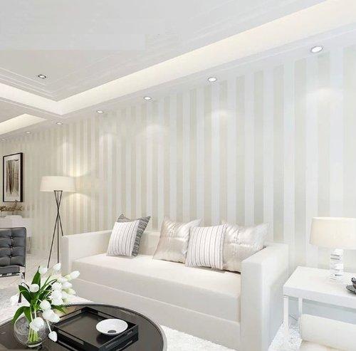 Qihang european modern minimalist country luxury stripe for Luxury minimalist bedroom